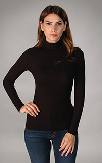 Three Dots Ribbed Viscose Turtleneck