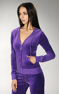 Juicy Couture Velour Bling Hoodie