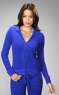 Juicy Couture Micro Terry Long Sleeve Hoodie