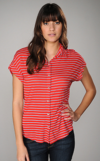 Splendid Marseille Chambray Stripe Top