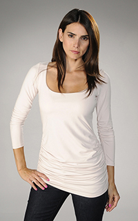 Susana Monaco Supplex Gather Sleeve Top