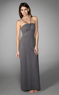 Susana Monaco Supplex Farrah Twist Maxi Dress