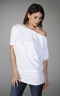 Susana Monaco Light Supplex Off Soulder Top
