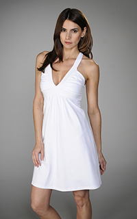 Susana Monaco Supplex Cross Back Tank Dress