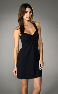 Susana Monaco Front Gather High Back Dress