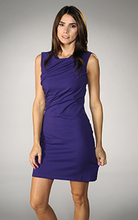 Susana Monaco Supplex Side Gather Tank Dress 19