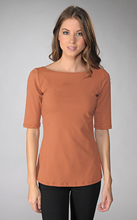 Susana Monaco Supplex U Sleeve Top