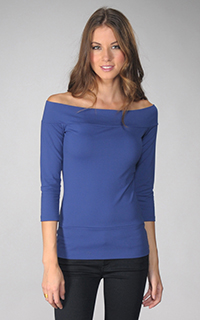 Susana Monaco Supplex Off Shoulder 3/4 Sleeve