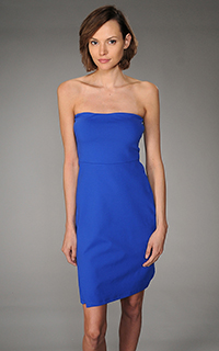 Susana Monaco Supplex Strapless Wrap Dress