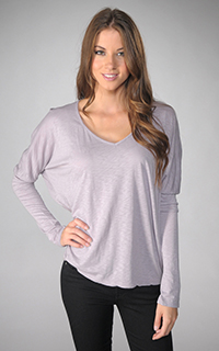Velvet Belle Luxe Slub Long Sleeve V Neck